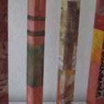 Holzstangen mit Collagen